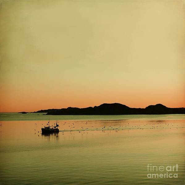 Dreamy Poster featuring the photograph Sea After Sunset by Sonya Kanelstrand