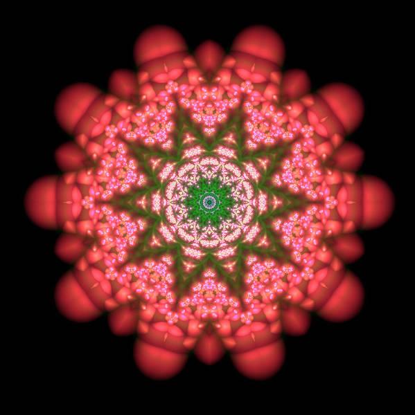 Mandala Poster featuring the digital art Seastar Lightmandala by Robert Thalmeier
