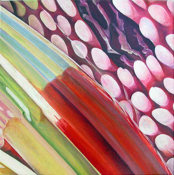 Abstract Poster featuring the painting Sens 2 by Muriel Dolemieux