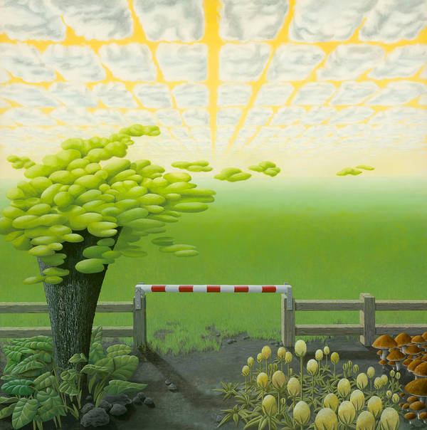 Tree Poster featuring the painting September by Patricia Van Lubeck