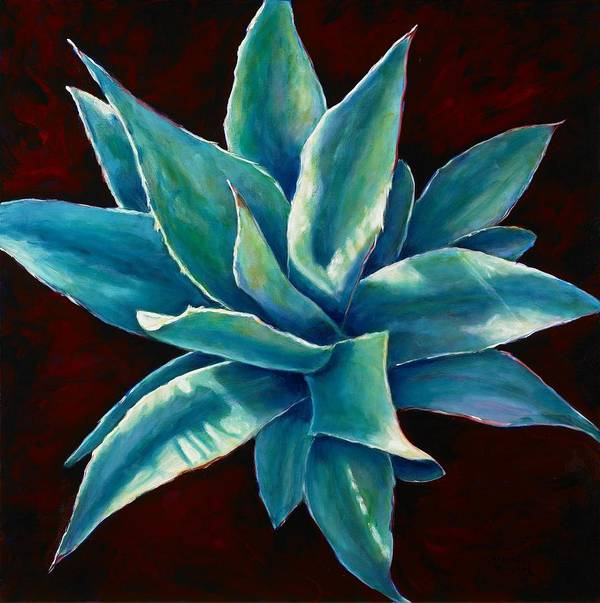 Agave Poster featuring the painting Simply Succulent by Shannon Grissom