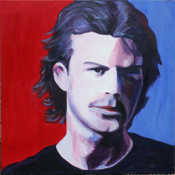 Portrait Poster featuring the painting Solo Man by Fiona Jack