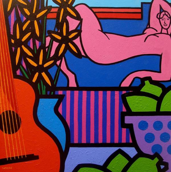 Matisse Poster featuring the painting Still Life With Matisse II by John Nolan