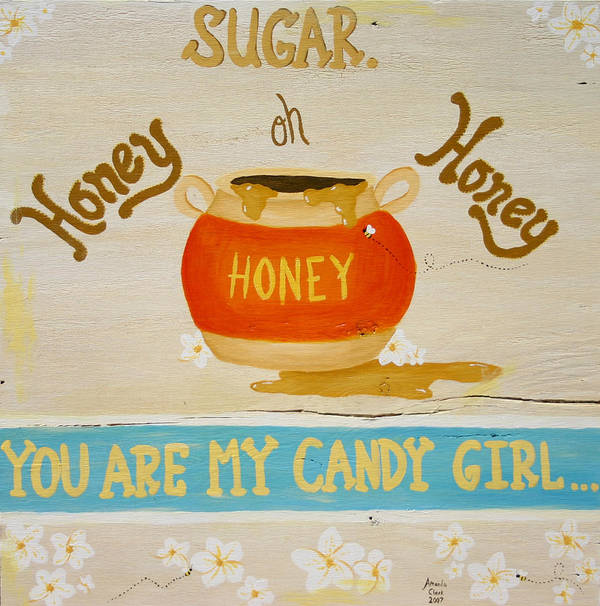 Honey Poster featuring the painting Sugar. by Amanda Clark