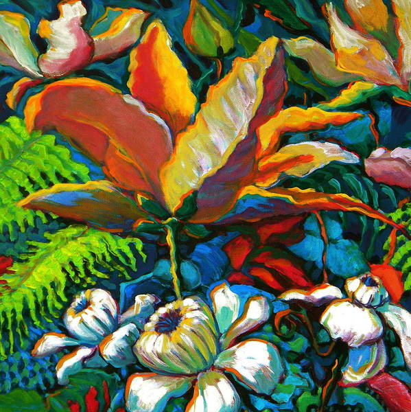 Florals Poster featuring the painting Summer Florals by Jeanette Jarmon
