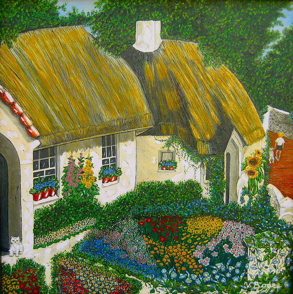 Gardens Poster featuring the painting Sunday Morning In The Netherlands by V Boge