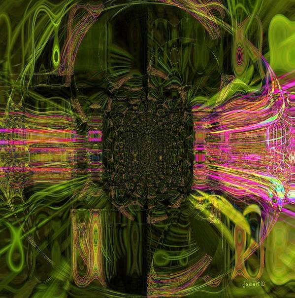 Faniart Poster featuring the digital art The Door by Fania Simon