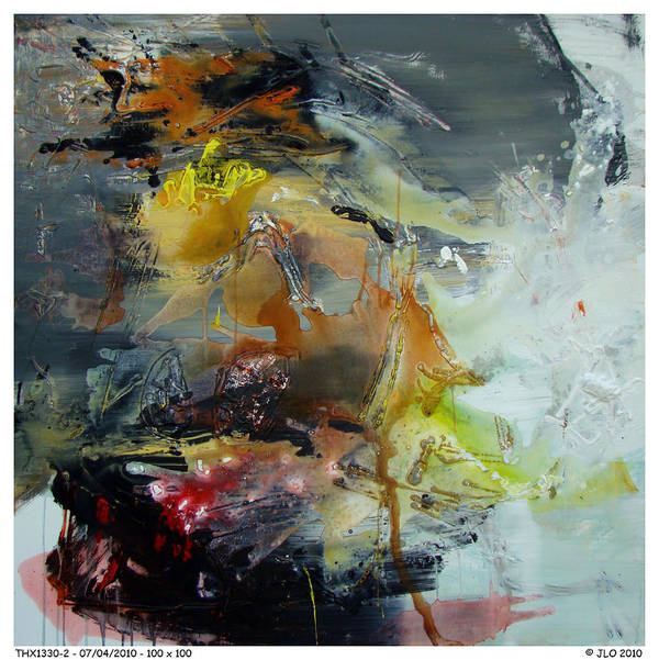 Abstract Jlo Thx Poster featuring the painting Thx1330-2 by Jlo Jlo