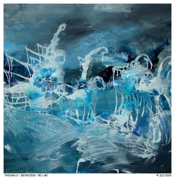 Abstract Jlo Thx Poster featuring the painting Thx1341-2 by Jlo Jlo