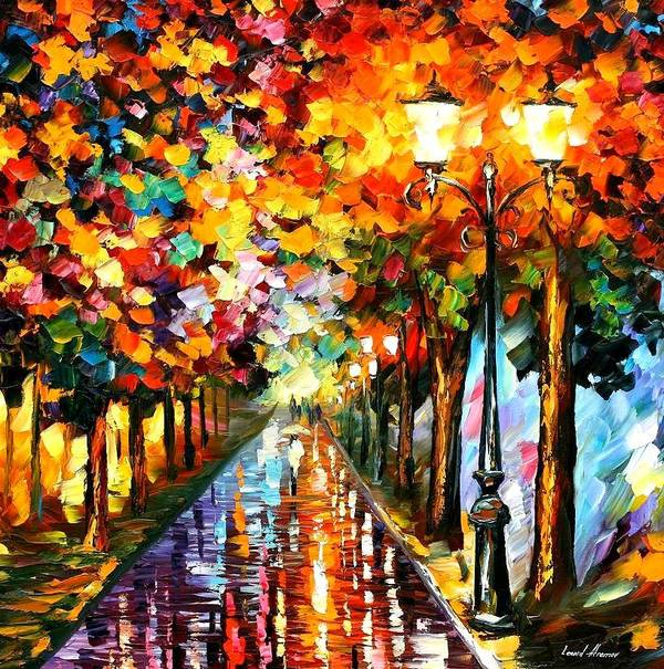 Afremov Poster featuring the painting Transformation Of The Night by Leonid Afremov