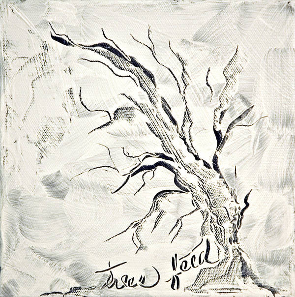 Tree Poster featuring the painting Trees Feed by Jacqueline Milner