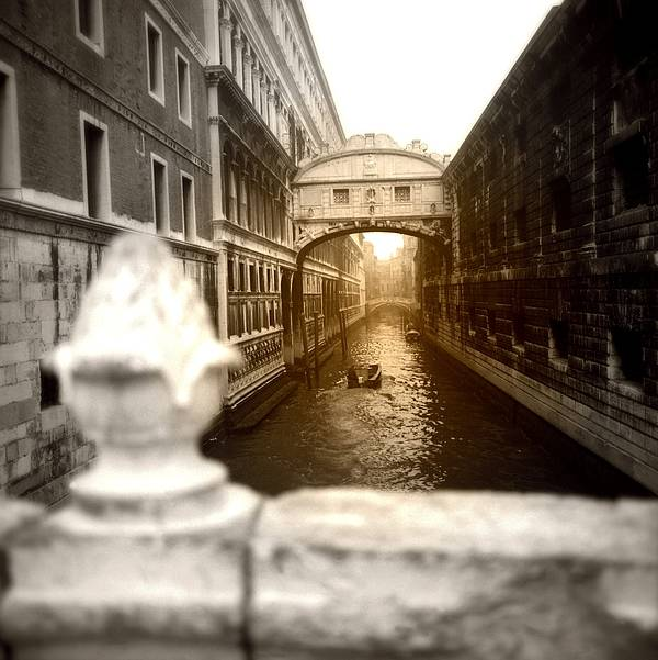 Architectural Poster featuring the photograph Venice Canal With Sunlight by Emanuel Tanjala