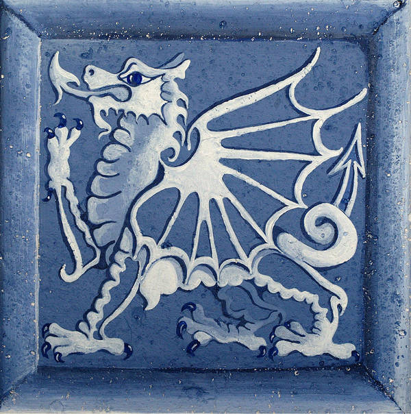 Heritage Poster featuring the painting Welsh Dragon Panel by Joyce Hutchinson