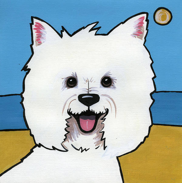 Westie Poster featuring the painting West Highland Terrier by Leanne Wilkes