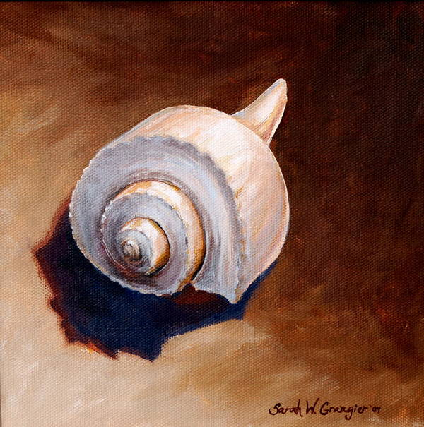 Whelk Poster featuring the painting Whelk by Sarah Grangier