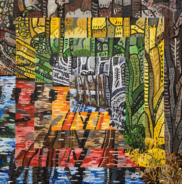 Acrylic Poster featuring the painting Willow Lake by Micah Mullen