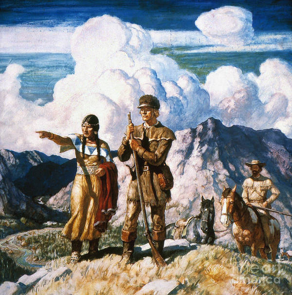 19th Century Poster featuring the painting Wyeth: Sacajawea by Granger