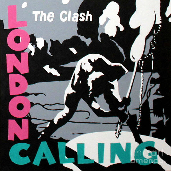 London Calling Poster featuring the painting London Calling The Clash by Amy Belonio