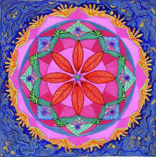Mandala Poster featuring the painting Ocean Of Love And Mercy by Sandy Thurlow