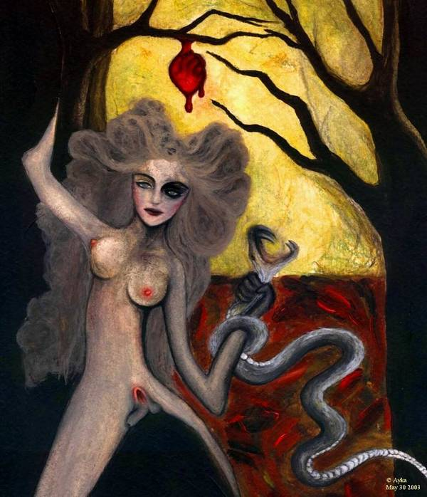 Adam Poster featuring the painting Adam and Eve by Ayka Yasis