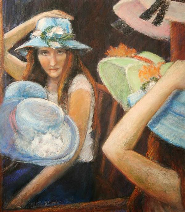 Poster featuring the painting Hats by Helen Hickey