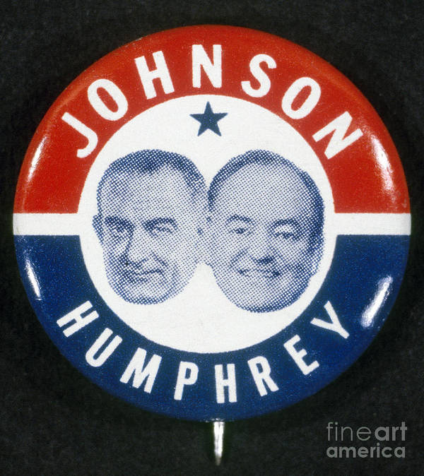 1964 Poster featuring the photograph Presidential Campaign, 1964 by Granger