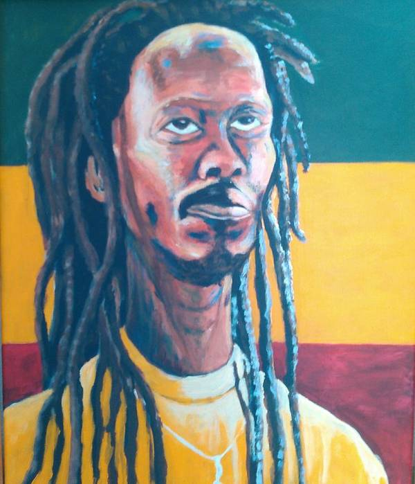 Rasta Portrait Poster featuring the painting ColorPS by Andrew Johnson