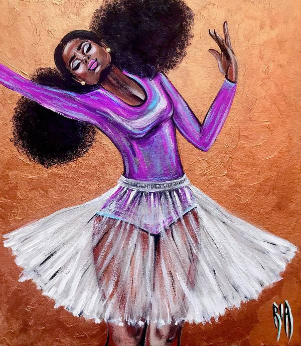 Ballerina Poster featuring the painting Breathtaking moments by Artist RiA
