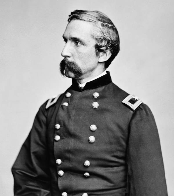 Joshua Lawrence Chamberlain Poster featuring the photograph General Joshua Chamberlain by War Is Hell Store