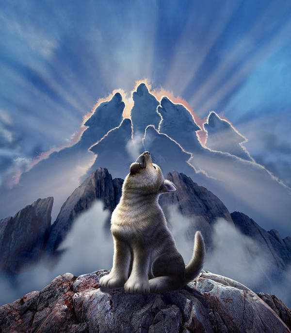 Wolf Poster featuring the digital art Leader of the Pack by Jerry LoFaro