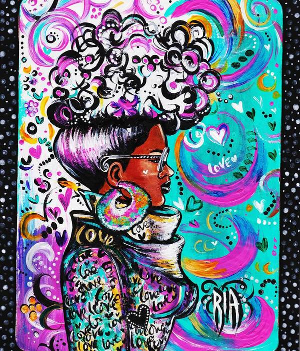 Afro Poster featuring the photograph Lovely by Artist RiA