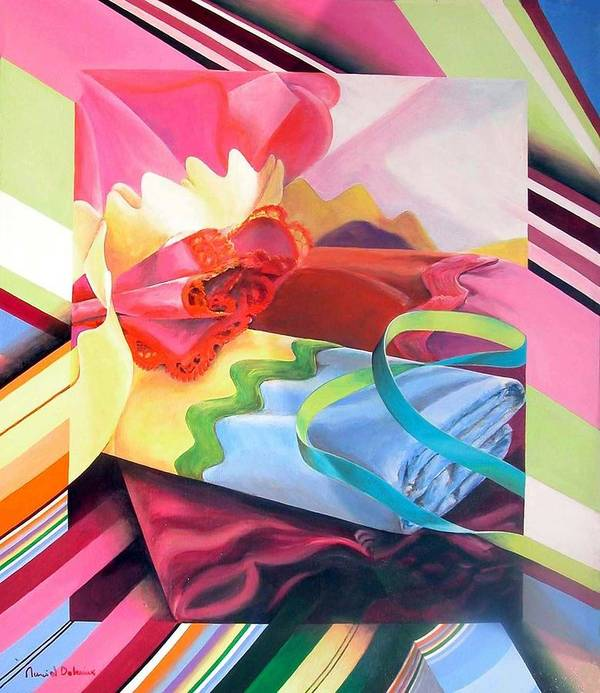 Still Life Poster featuring the painting Mercerie by Muriel Dolemieux
