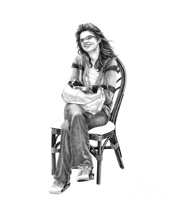 Figure Drawing Poster featuring the drawing Samantha Jonice Elliott by Murphy Elliott