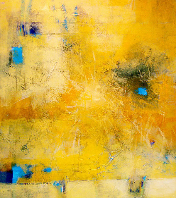Abstract Poster featuring the painting Sun Web by Dale Witherow