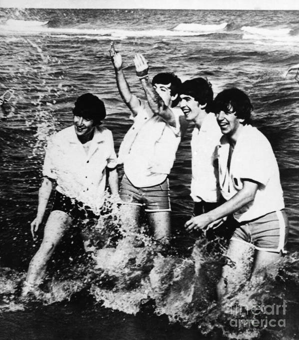 1964 Poster featuring the photograph The Beatles, 1964 by Granger