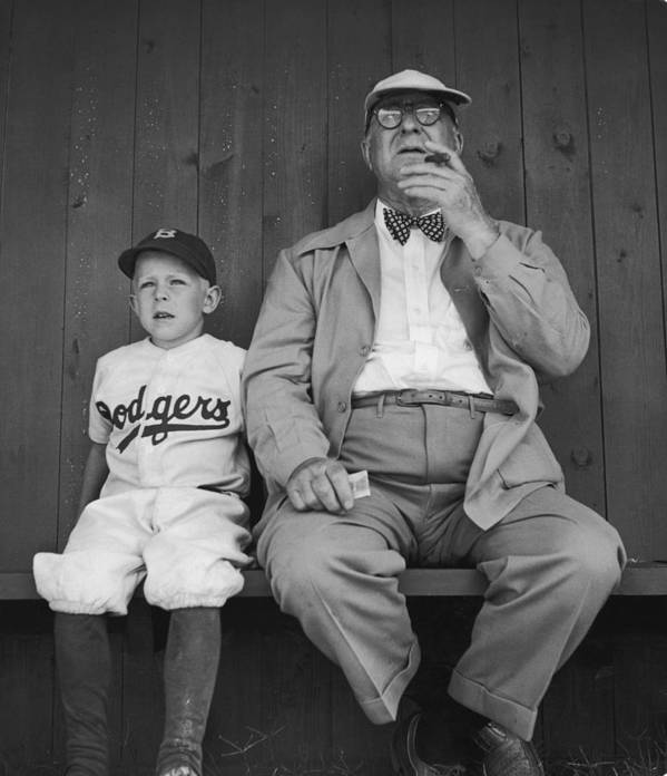 Timeincown Poster featuring the photograph Branch Rickey & Family by George Silk