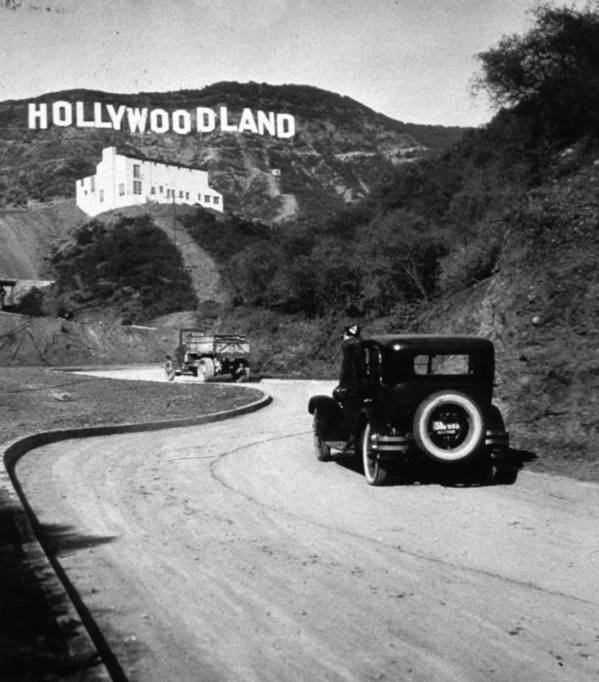 City Of Los Angeles Poster featuring the photograph Hollywood Land by Mpi
