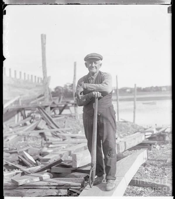 People Poster featuring the photograph Portrait Of A Shipyard Workman by Bettmann