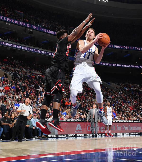 Nba Pro Basketball Poster featuring the photograph Nik Stauskas by Jesse D. Garrabrant