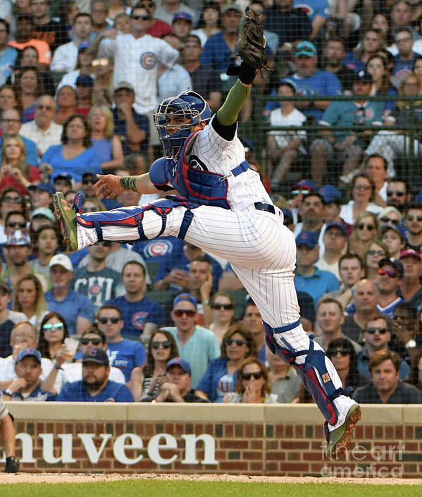 People Poster featuring the photograph Willson Contreras by David Banks