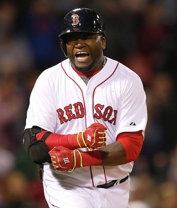Ninth Inning Poster featuring the photograph David Ortiz by Jim Rogash