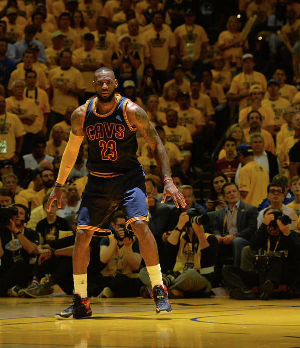 Playoffs Poster featuring the photograph Lebron James by Jesse D. Garrabrant