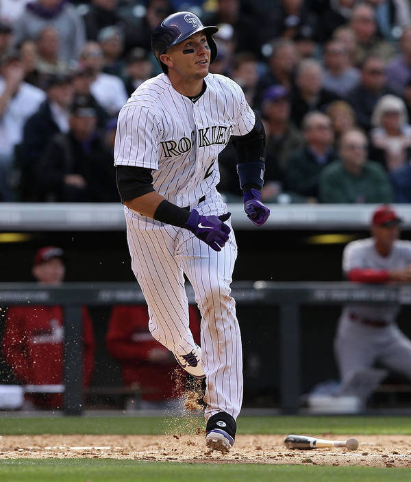 Shortstop Poster featuring the photograph Troy Tulowitzki by Doug Pensinger