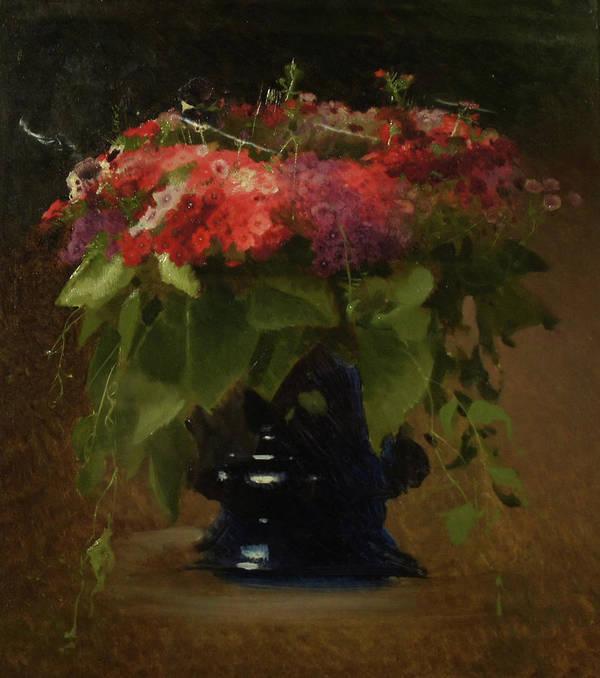Ivan Kramskoy Poster featuring the painting Bouquet of Flowers by Ivan Kramskoy