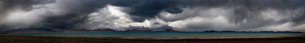 Beautiful Poster featuring the photograph Storm On Karakul Lake. Panorama by Konstantin Dikovsky