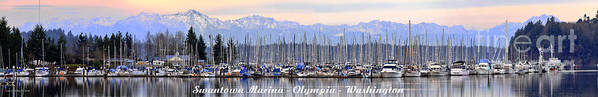 Landscape Poster featuring the photograph Swantown Marina Olympia Wa by Larry Keahey