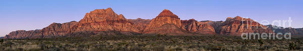 America Poster featuring the photograph Red Rock Canyon Pano by Jane Rix