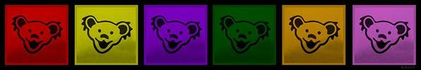 Greatful Dead Poster featuring the photograph Greatul Dead Dancing Bears In Muti Colors by Rob Hans