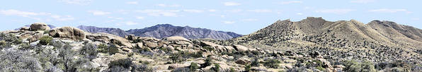 Photography Poster featuring the photograph Dragoon Mountains Panorama by Sharon Broucek