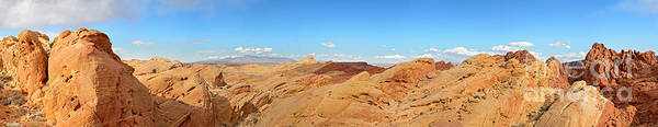 America Poster featuring the photograph Valley Of Fire Pano by Jane Rix